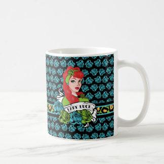Pin-para arriba chica, señora Luck Taza De Café