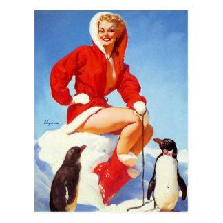 Pin-Para arriba con la postal de los pingüinos