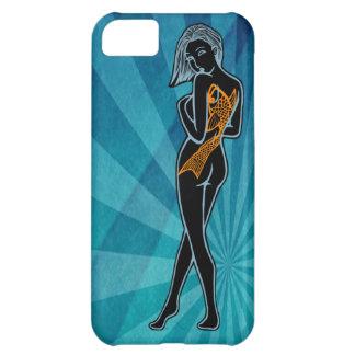Pin-Para arriba de la mujer de Koi (levantamiento  Funda Para iPhone 5C