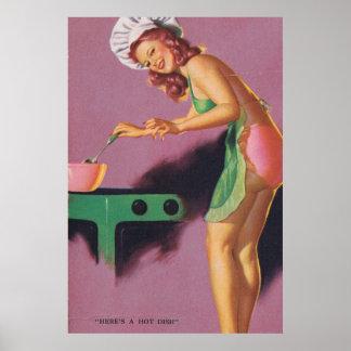 Pin-para arriba del vintage póster
