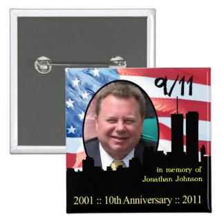 Pin personal del aniversario del monumento 911