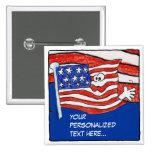 Pin personalizado /Button de la bandera americana