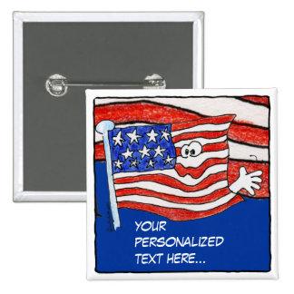 Pin personalizado Button de la bandera americana