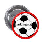 Pin personalizado del fútbol/botón