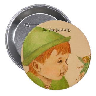 Pin Peter Pan del botón de enero Shackelford