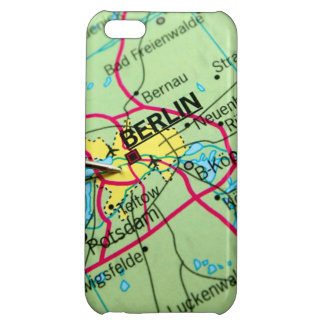 Pin placed on map in Berlin, Germany iPhone 5C Case