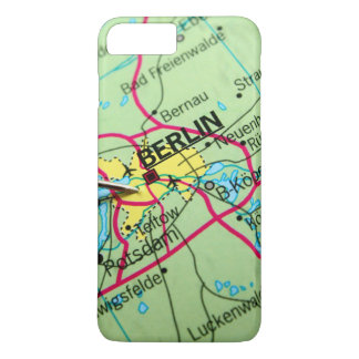 Pin placed on map in Berlin, Germany iPhone 7 Plus Case