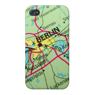 Pin placed on map in Berlin, Germany Case For iPhone 4