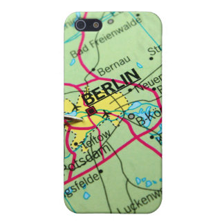 Pin placed on map in Berlin, Germany Cover For iPhone 5/5S