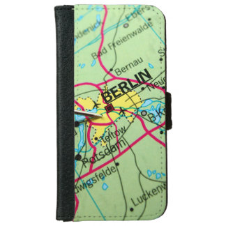 Pin placed on map in Berlin, Germany iPhone 6 Wallet Case