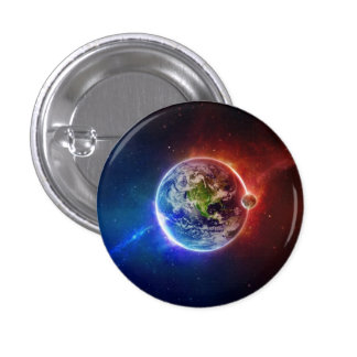 Pin Planet Abstract Blue and Red