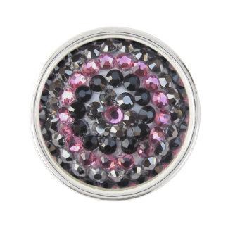 Pin plateado plata rosada de la solapa del