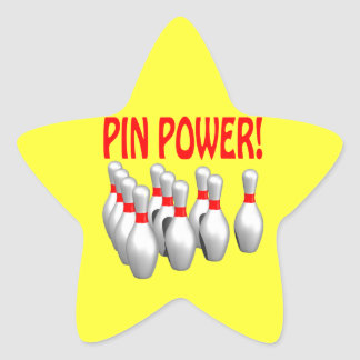 Pin Power Star Stickers