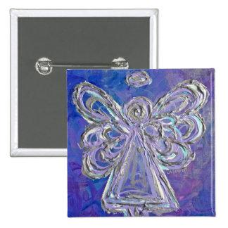 Pin púrpura del botón del ángel