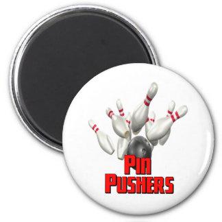 Pin Pushers Bowling Fridge Magnets