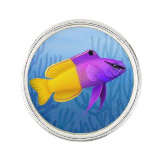 Pin real de la solapa de los pescados del filón de