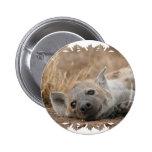 Pin redondo de la imagen del Hyena