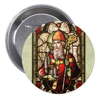 Pin redondo del botón del arte de St Patrick Digit