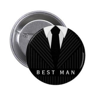 Pin redondo del mejor hombre de la despedida de pin redondo 5 cm