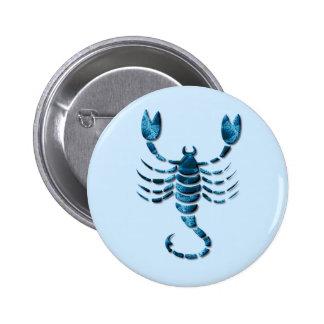 Pin redondo del zodiaco del escorpión
