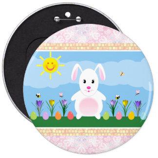 Pin redondo lindo del botón del conejo de conejito