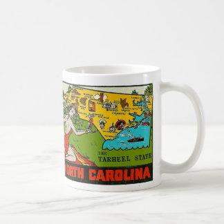 Pin retro de Carolina del Norte de la etiqueta del Taza Clásica