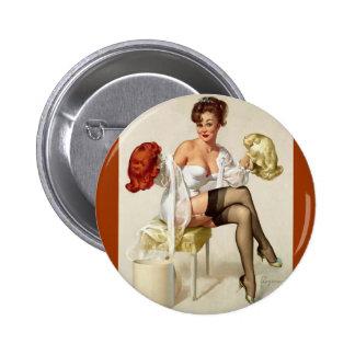 Pin retro de Gil Elvgren del vintage encima del ch
