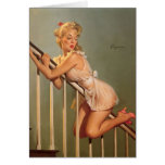 Pin retro de Gil Elvgren del vintage encima del ch Felicitaciones
