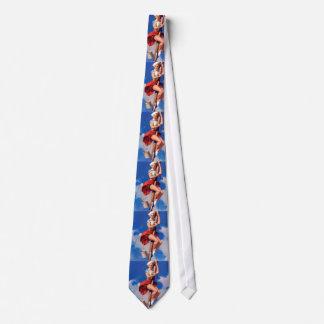 Pin retro de Gil Elvgren del vintage encima del Corbata Personalizada