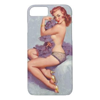 Pin retro de Gil Elvgren del vintage encima del Funda iPhone 7