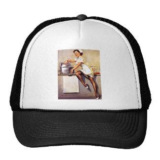 Pin retro de la enfermera de Gil Elvgren del Gorras De Camionero