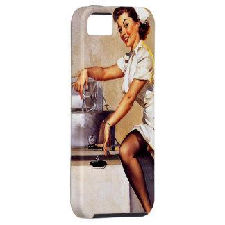 Pin retro de la enfermera de Gil Elvgren del vinta iPhone 5 Coberturas