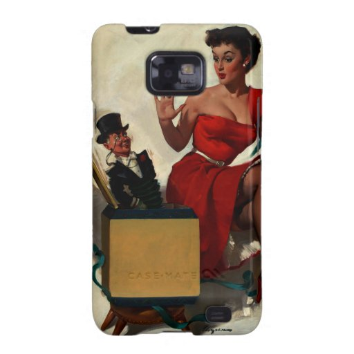 Pin retro de la sorpresa de Gil Elvgren del vintag Samsung Galaxy SII Fundas