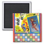 Pin retro de Punchboard del kitsch del vintage enc Imanes Para Frigoríficos