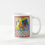 Pin retro de Punchboard del kitsch del vintage enc Tazas