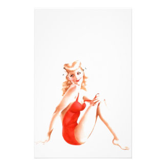 Pin retro del Blonde encima del chica Papeleria