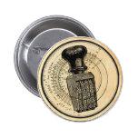 Pin retro del botón del sello de goma del vintage