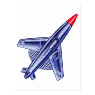 Pin retro del club de Rocket del aeroplano del jet Postal