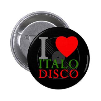 Pin retro del disco de Italo del amor del tigre 80