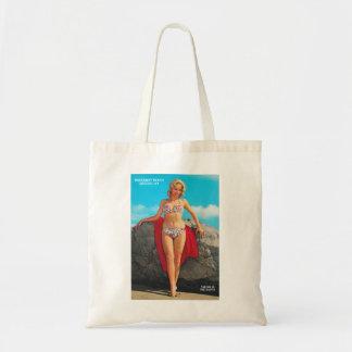 Pin retro del kitsch del vintage encima de la post bolsas