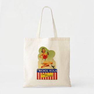 Pin retro del kitsch del vintage encima de la soda bolsas de mano