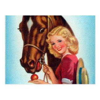 Pin retro del kitsch del vintage encima de la postal