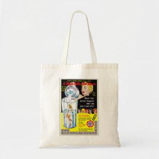 Pin retro del kitsch del vintage encima de los vid bolsas de mano