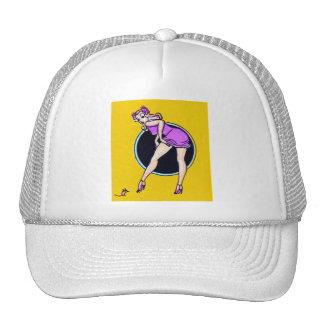Pin retro del kitsch del vintage encima del arte d gorra
