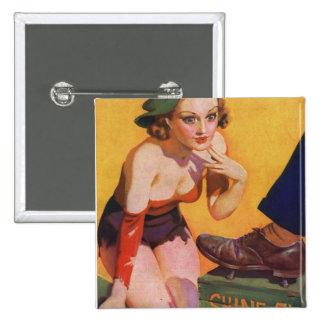 Pin retro del kitsch del vintage encima del brillo