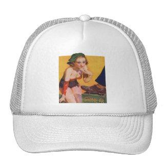 Pin retro del kitsch del vintage encima del brillo gorra