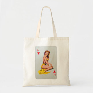 Pin retro del kitsch del vintage encima del chica  bolsas de mano