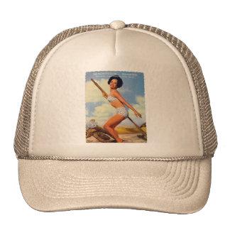 Pin retro del kitsch del vintage encima del club d gorra