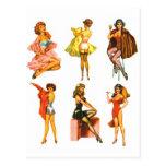 Pin retro del kitsch seis del vintage encima de ch tarjetas postales