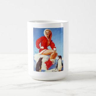Pin retro del navidad de Gil Elvgren del vintage E Taza
